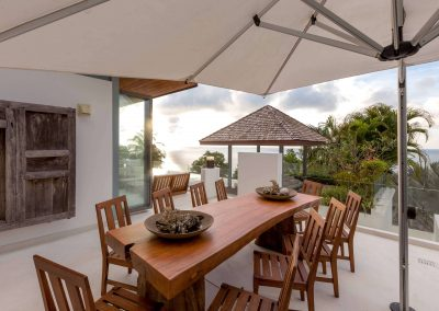 5.Outdoor Dining Area - Sunset